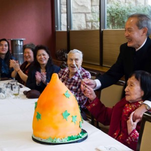 Grandma's 100th Birthday Celebration - Cake Cutting