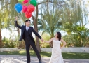 Hien and Da's Las Vegas Wedding Planner - Up Floating