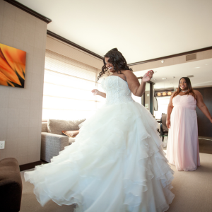 Crystal & JD's Vegas Wedding Coordinator - Princess Ball Gown